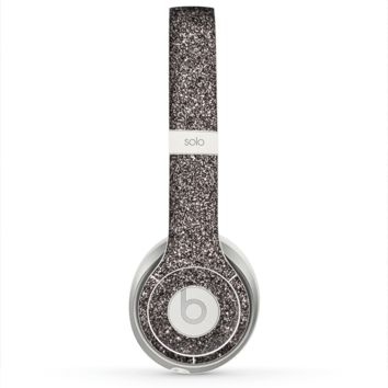 The Black Glitter Ultra Metallic Skin for the Beats by Dre Solo 2 Headphones
