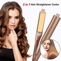 Salon Quality 2-in-1 Hair Curling & Straightening Iron