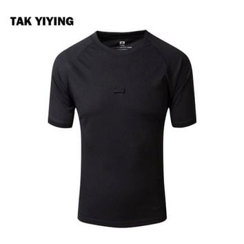 DCCKFS2 TAK YIYING Summer Coolmax Camouflage Outdoor Camping & Hiking T Shirt Men Breathable Quick Dry US  T-Shirt Camo O Neck