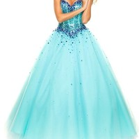 Lacemarry Sweetheart A-line Beading Sequin Tulle Long Prom Dress/ball Gown