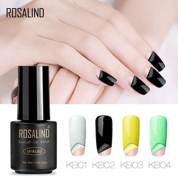 ROSALIND Gel 1S 7ml Peel Off Gel Nail Polish No Need Remover Multi-Use Primer Nail Varnish Tear to Remove UV Glitter Poly Gel