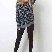 Geometric Pullover Sweater Top