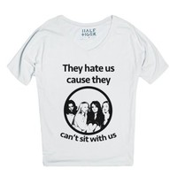 Hate Mean Girls-Unisex Snow T-Shirt