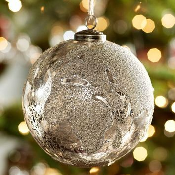 Silver Globe Ornament Benefiting Give A Little Hope Campaign