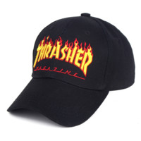 Hot Thrasher Print Cotton Sports Outdoor Baseball Cap