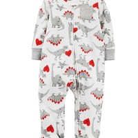 Dino Zip-Up Cotton Sleep & Play