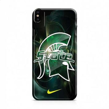 Michigan State nike 2 iPhone X case