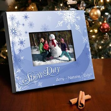 Holiday Picture Frame - Snow Day