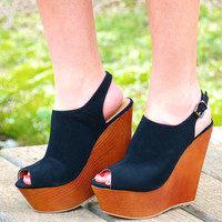 Walk It Out Wedge- Black
