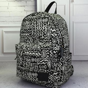 PEAPDQ7 Vintage Aztec Canvas Lightweight Backpack Travel Bag School Bag Daypack