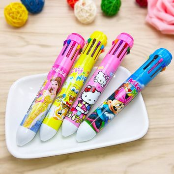 8 Colors Cartoon Stationery Hello Kitty Ballpoint Pen School Supplies Kawaii Office Accessories Pens For Writing Stationery
