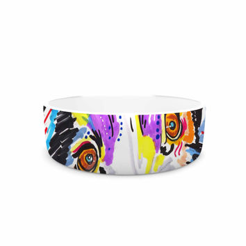 "Rebecca Fisher ""Buzz"" Multicolor Dog Pet Bowl"