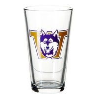 The Husky Shop - Vault Dawg Pint Glass - Home & Office - University Book Store