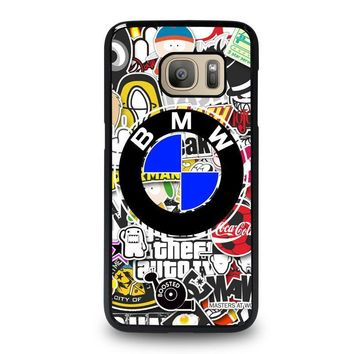 bmw sticker bomb samsung galaxy s7 case cover  number 1