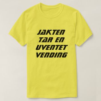 The hunt takes an unexpected turn in Norwegian T-Shirt