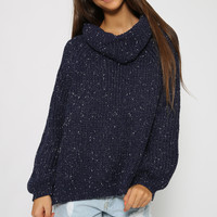 Power Up Knit - Navy Speckle