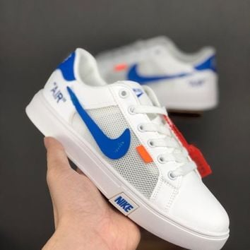 HCXX 19June 999 Nike Unisex Leather breathable mesh casual shoes perforated breathable tennis culture shoes