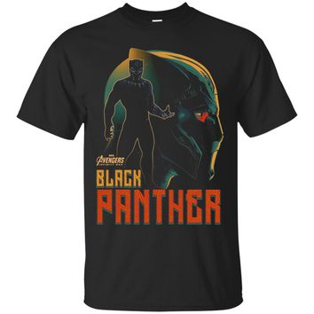 Marvel Infinity War Black Panther Profile Graphic T-Shirt