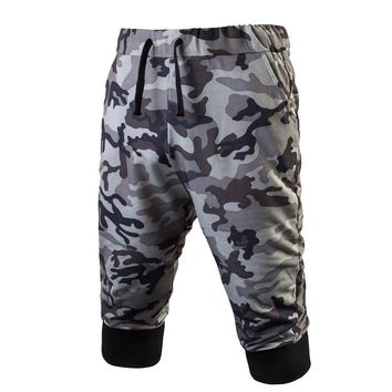 Mens Sport Gym Fitness Jogging Stretchy Bodybuilding SweatPants Camo