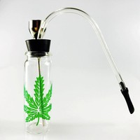 Glass Popular Bottle Water Pipe Portable Mini Hookah Shisha Tobacco Smoking Pipes Gift of Health Metal Tube Filter Mouthtips