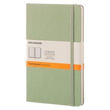 "Moleskine® Notebook, Hard Cover, College Ruled, 240 sheets, 5"" x 8"" - Green"