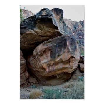 Rock Formations Zion National Park Poster
