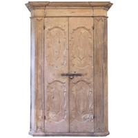 18th Century Large Armoire in Painted Pine Italian