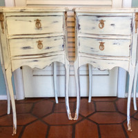 Pair of French Vintage Nightstands 1940s