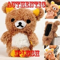 Authentic iPlush Plush Toy Cell Phone Case for iPhone 4 / 4S - Company Direct Sell 100 Percent Authentic (Brown Bear):Amazon:Cell Phones & Accessories