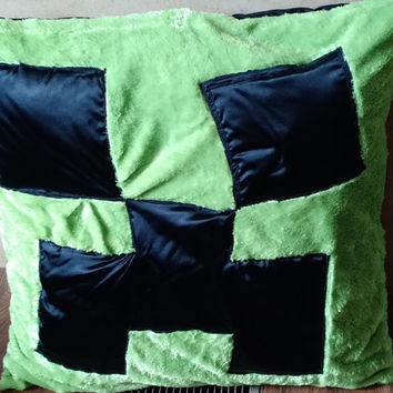 Minecraft...Minecraft pillow...creeper pillow..enderman pillow