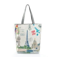 Eiffel Tower Beach  Bag