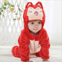 newborn baby boy clothes red kdis clothes Ali Fox girls cute bodysuit winter Jumpsuit ropa bebe Pajama macacao bebe menino YJY11