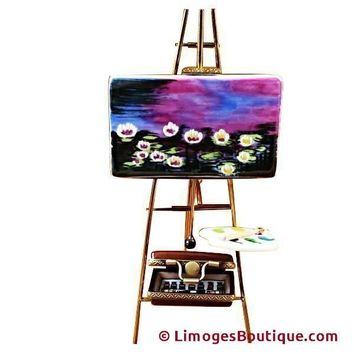 EASEL MONET - WATER LILIES LIMOGES BOX