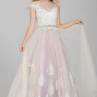 White Tulle Ballgown Prom Dress 31122