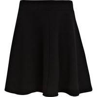 River Island Girls black quilted skater skirt