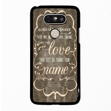 THE AVETT BROTHERS QUOTES LG G5 Case Cover