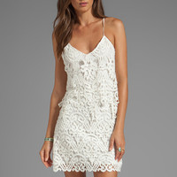 Dolce Vita Jordinna Charleston Lace Spaghetti Strap Dress in Snow from REVOLVEclothing.com