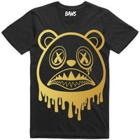 Baws Drip Sneaker Tees Shirt - GOLD INK