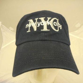 DCK4S2 MENS NEW YORK CITY BALL CAP/ BLACK-SILVER