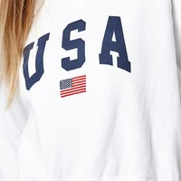 John Galt Amanda USA Crew Neck Sweatshirt at PacSun.com