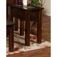 Sunny Designs 3144DC-2 Santa Fe End Table In Dark Chocolate