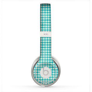 The Vintage Blue Plaid Skin for the Beats by Dre Solo 2 Headphones