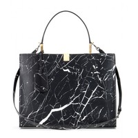 Le Dix printed leather tote