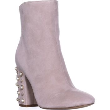 Ivanka Trump Telora Ankle Boots, Taupe Suede, 8 US
