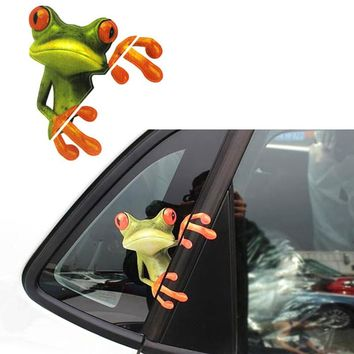 3D Peeping Frog Funny Decal