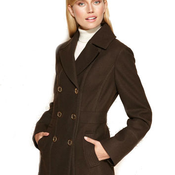 MICHAEL Michael Kors Double-Breasted Wool-Blend Pea Coat