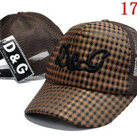 DCCKUN2 D&G  embroidery Strap Cap Adjustable Golf Snapback Baseball Hat