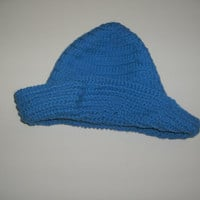 Handmade crocheted Blue brimmed crocheted by CanadianCraftCritter