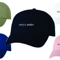 Dad Hat Baseball Cap Embroidered NASTY WOMEN