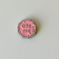 Eat Me Alice in Wonderland Floating Charm